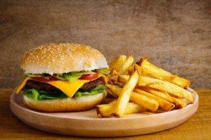 junk food plate